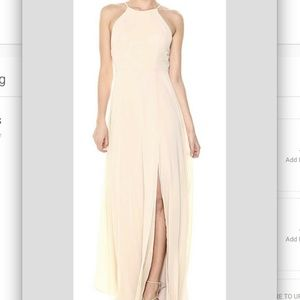 NWT Jenny Yoo Kayla A-line Halter Chiffon Gown